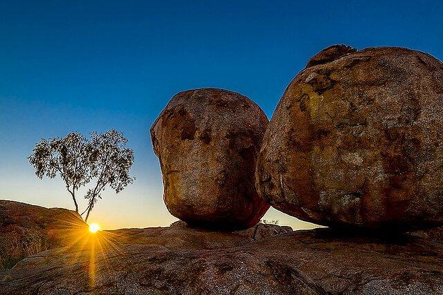 Karlu Karlu (Devils Marbles, NT, Australia) - Fantastic sight at dawn in the Northern Territory.  Devils Marbles Stuart Highway by Pete Tachauer, on Flickr  Devils Marbles Stuart Highway by Pete Tachauer, on Flickr  Devils Marbles Stuart Highway by Pete Tachauer, on Flickr