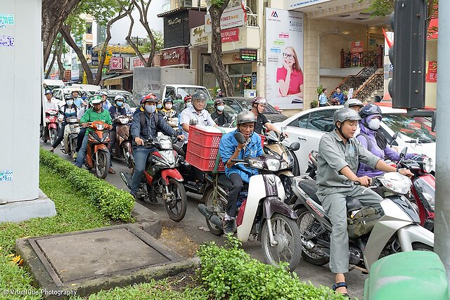 Ho Chi Minh - Vietnam - A third series. Ho Chi Minh (saigon) is definitely worth a visit. It seems as if everyone is born and lives on a scooter. It is a vibrant city with lots of things to see.