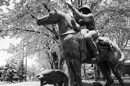 John Otto statue with snow b&w (1 of 1).jpg