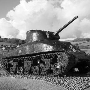 Sherman Tank at Torcross, south Devon