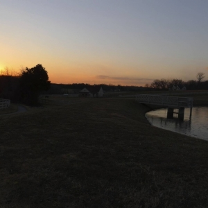 Sunset Barn and Pond