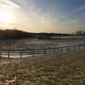 Blue Sky, Green Grass Barn