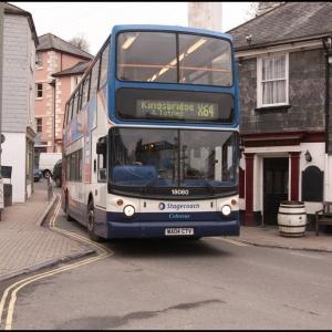 Service X64 from Exeter entering Kingsbridge