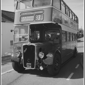 65 year old Bristol K6A in black and white
