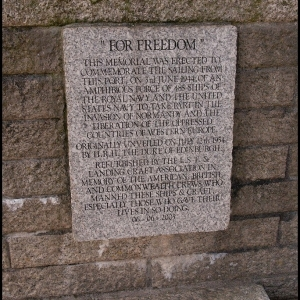 memorial to the ships and men who sailed from Dartmouth to form up with the
