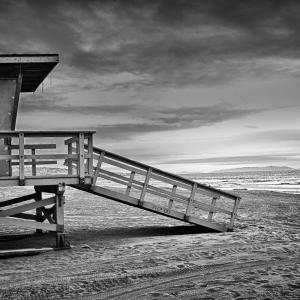 Beach_at_Dusk_BW-1