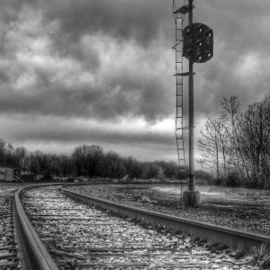 Old train signal