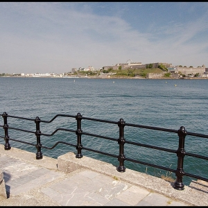 Plymouth Citadel from Mount Batten