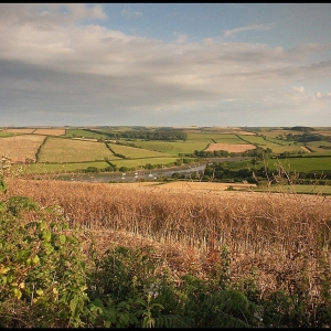 a view south over Frogmore Creek, south Devon