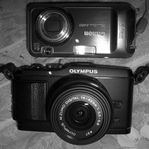 E-P3 versus Canon Powershot A460