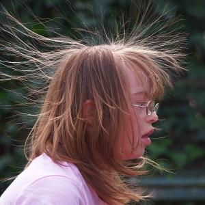 Hair Raising moment