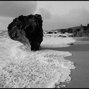 A lone rock down on Mattiscombe beach