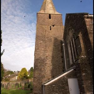 Slapton church steeple