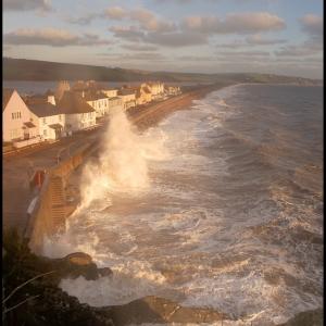 SIJ - Day 15  Rough seas test the sea defences at Torcross