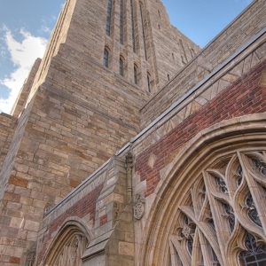 SIJ - Day 19: Sterling Memorial Library Tower from Cloisters Courtyard