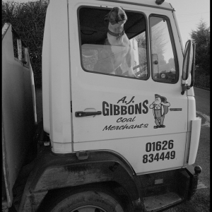 Guarding the lorry, or practicing his reversing?