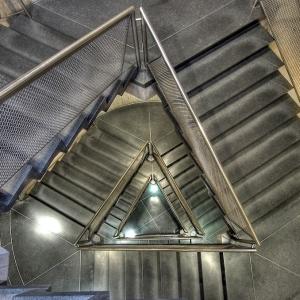 SIJ - Day 23: Detail - Stairwell, Yale Museum of Art.