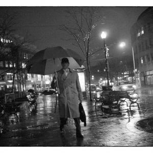 Rainy Night, Harvard Square, Cambridge, MA