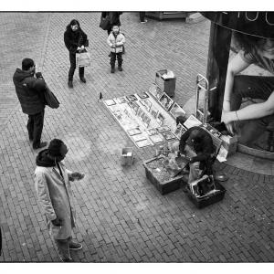 SIJ Day 28 - Street Artist, Harvard Square, Cambridge, MA