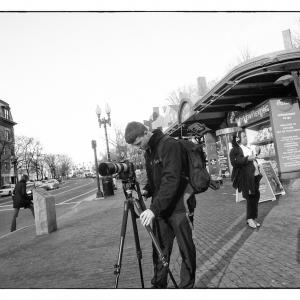 Street Photographer, Harvard Square, Cambridge, MA