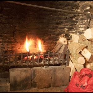 Fireplace, Queens Arms, Slapton