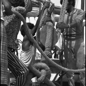 Crew members of a Dhow