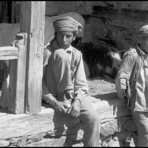 Boys at temple in the hills