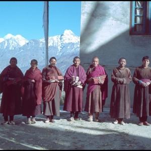 Monks (and Nuns!) Kardang Gompa, Keylong, Lahoul