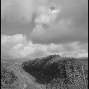 Lane and clouds