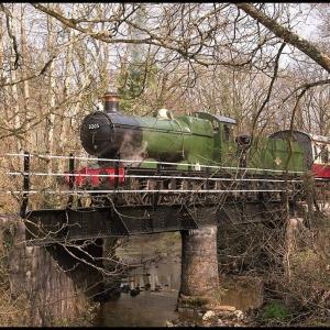 Crossing Staverton Mill Leat bridge