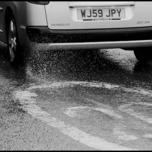 Speed and spray (yes it's still raining)