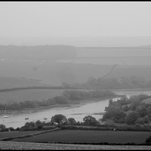 South across Frogmore Creek and into the gloom
