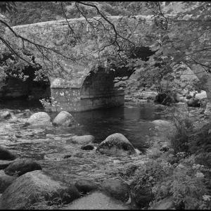 """The """"new"""" bridge at Dartmeet"""