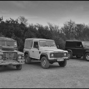 A convention of Land Rovers (mine included)