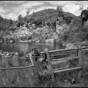 Haytor quarry with winch