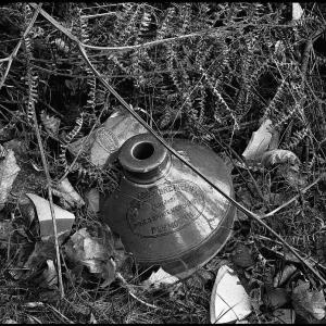 "broken ""Plymouth Breweries"" stoneware jar"
