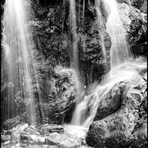 waterfall at Mattiscombe Sands