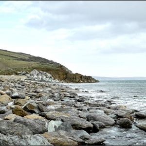 Hallsands, stripped of its overlying shingle