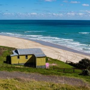 "NZ ""bach"", west coast, New Zealand"
