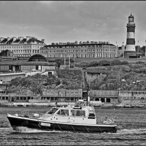 """The Plymouth pilot boat """"Agility"""" puts to sea"""