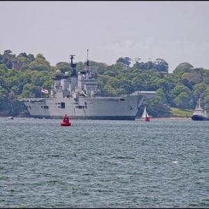 HMS Illustrious puts to sea
