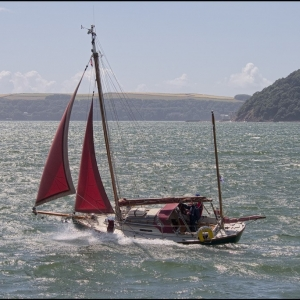Running under jib sails alone