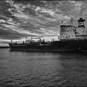 Putting to sea on a grey dawn