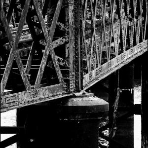 Pigeons on a bridge