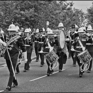 Marching through Plymouth