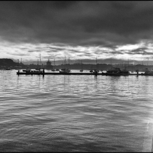 Dawn, high tide, clearing cloud