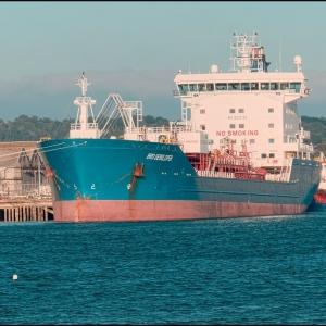 Tanker at Cattedown Wharfs