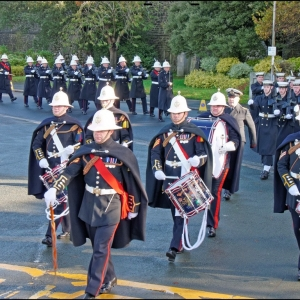 Marine drummers