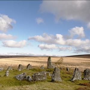 Stone row and circle