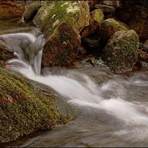Miniature falls on the Glaze Brook